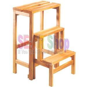 Scaletta sgabello legno gradini 3 boiserie in ceramica for Scala retrattile bricoman